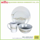 Wholesale food safety melamine breakfast dinner set
