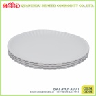 Cheap reusable paper like white melamine plate