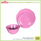 Newly pink color melamine plastic customized dinner set